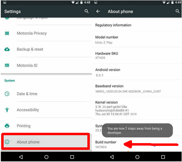 Cara Unlock Bootloader Motorola Moto C / Plus 2