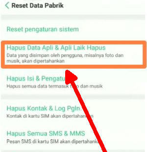 reset oppo a5s
